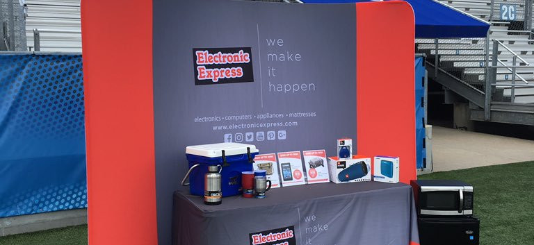 Electronic Express Merchandise Booth Display