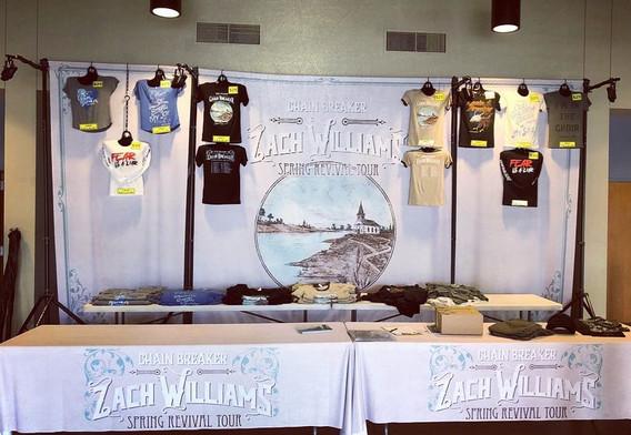 Zack Williams Merchandise Booth Display