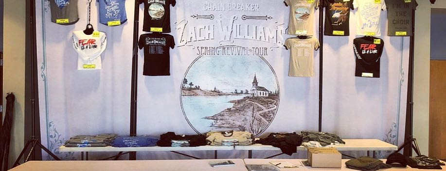 Zack Williams Merchandise Booth Display