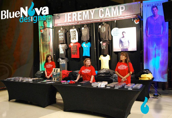 Jeremy Camp Merchandise Booth Display