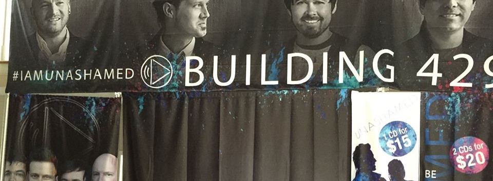 Building 429 Merchandise Booth Display