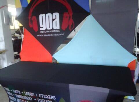 Greg Oliver Agency GOA Merchandise Booth Display