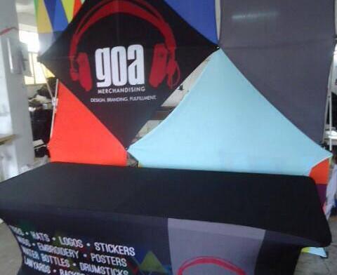 Greg Oliver Agency GOA Merchandise Booth Display
