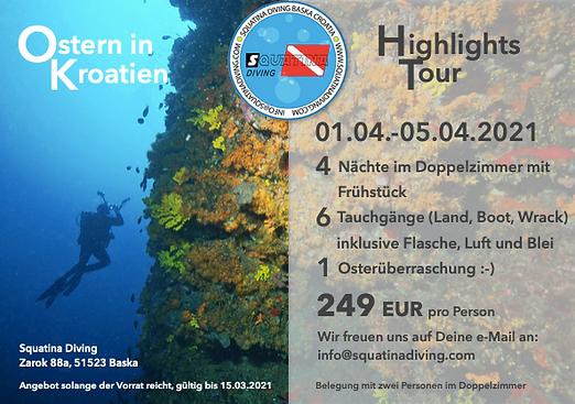 Tauchen in Kroatien auf der Insel Krk: Wir haben top Angebote zu günstigen Preisen. Tauchen mit Squatina Diving Krk