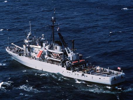 OVNI vu depuis le pont de l'USS Edenton