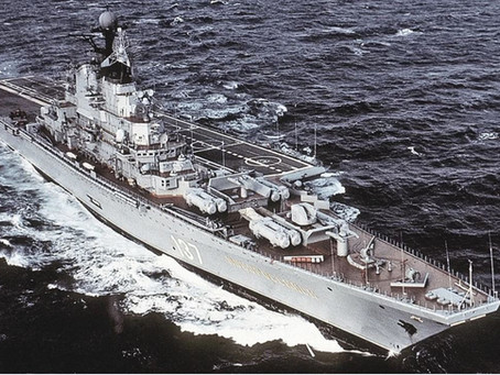 """Le porte-avions soviétique """"Novorossiysk"""" neutralisé par un OVNi ?"""