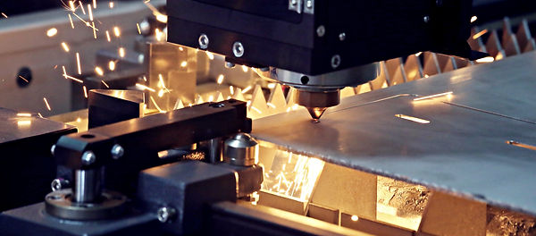 Laser cuttin stainless steel metal