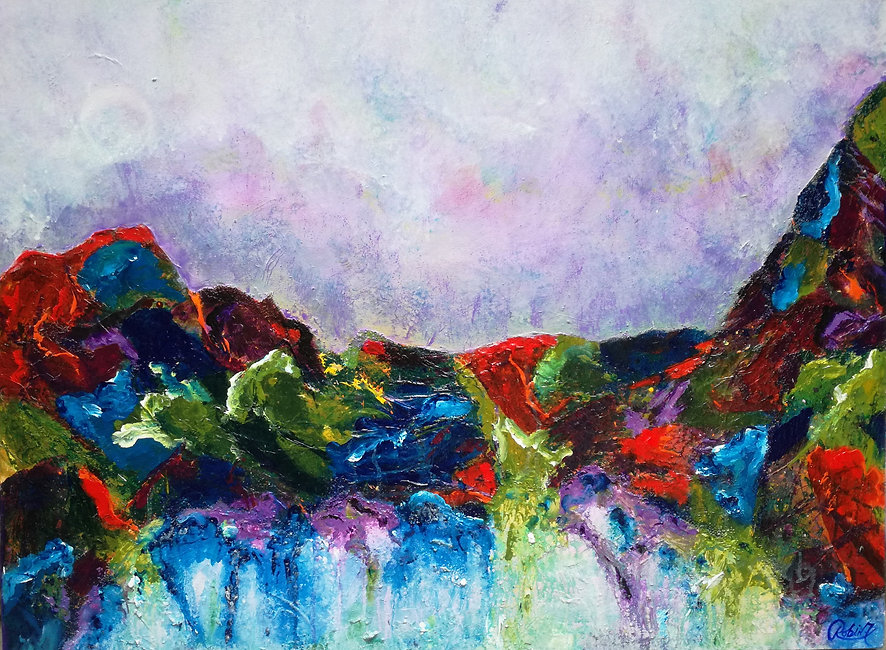 After the Storm 30 x 40 Mixed Medium on