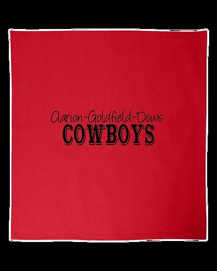 RED COWBOYS BLANKET