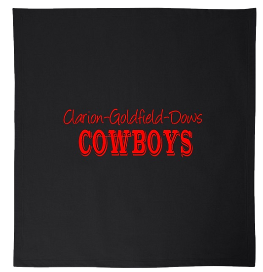 BLACK COWBOYS BLANKET