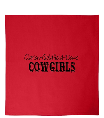 RED COWGIRLS BLANKET