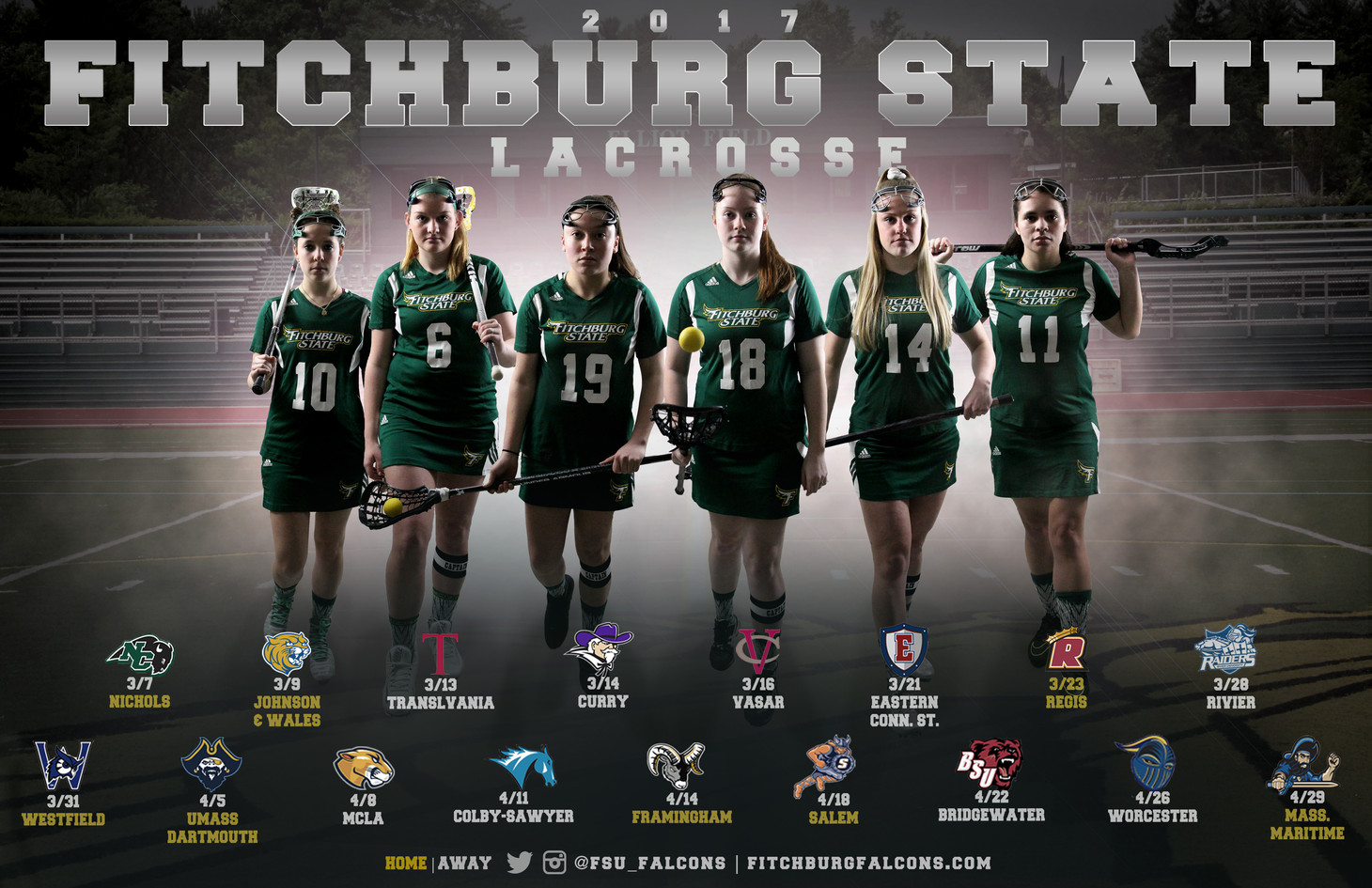 Fitchburg State Women's Lacrosse Poster | March 2017