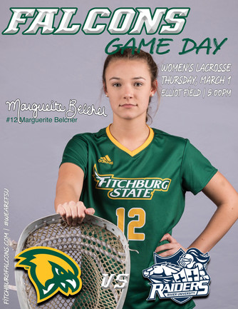 Fitchburg State Women's Lacrosse Game Day Program Cover | March 2018