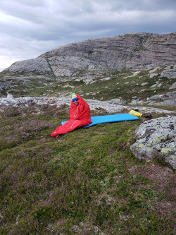 Camping on the Lysefjord