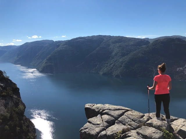 Hiking the Lysefjord view