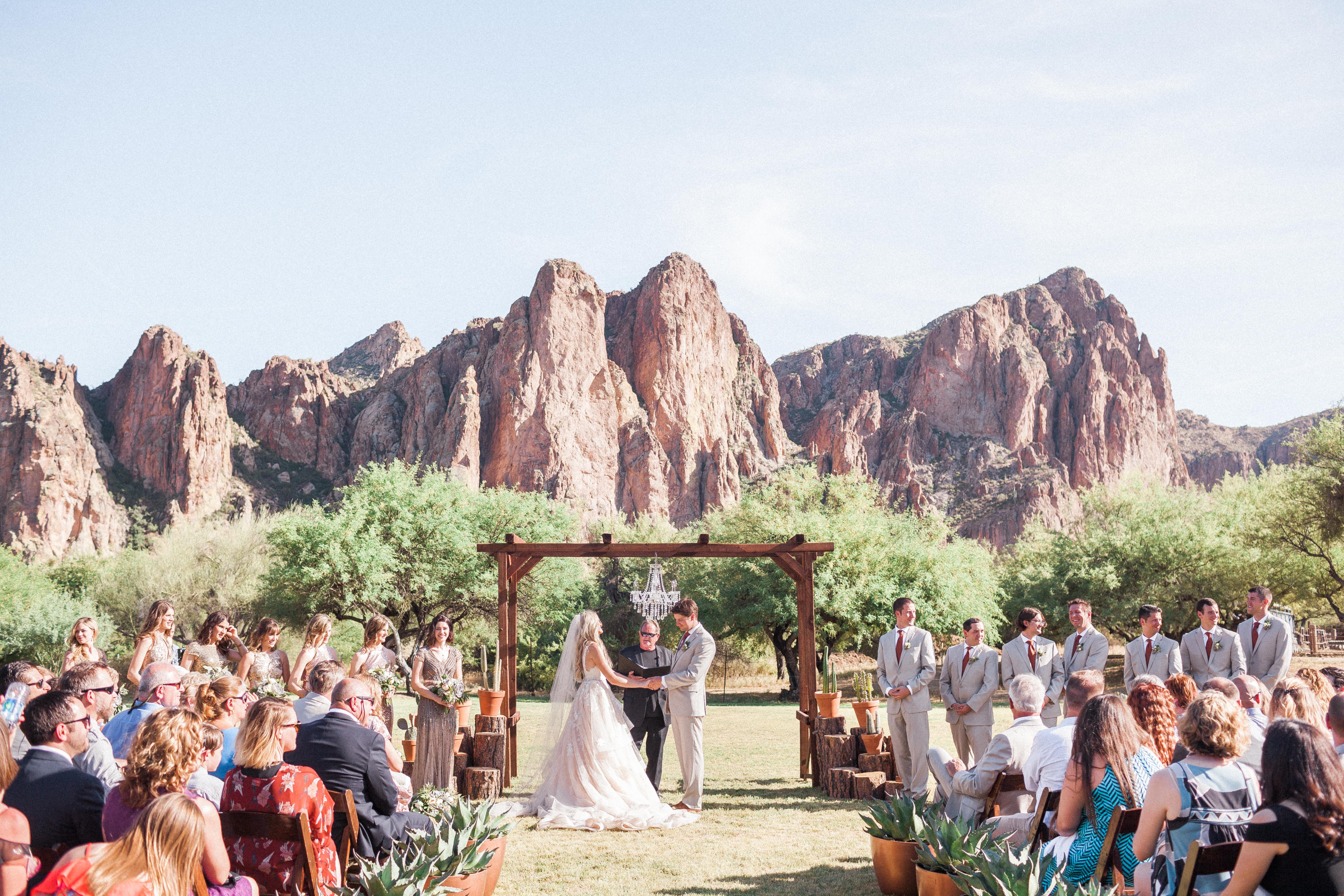 Outdoor Arizona Wedding Ceremony