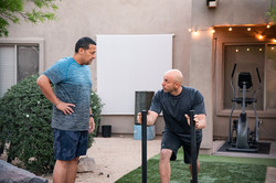 Sled push Demo from Personal Trainer