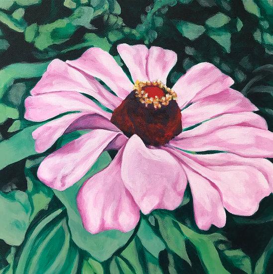 pink flower crown painting