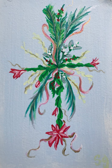 Christmas Cactus Flower Cross