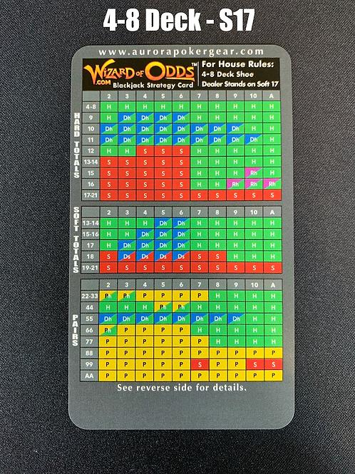 WoO Blackjack Strategy Card - 4-8 Deck, S17