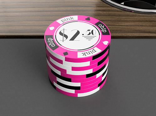 Pink Chip Game - 100 Poker Chips