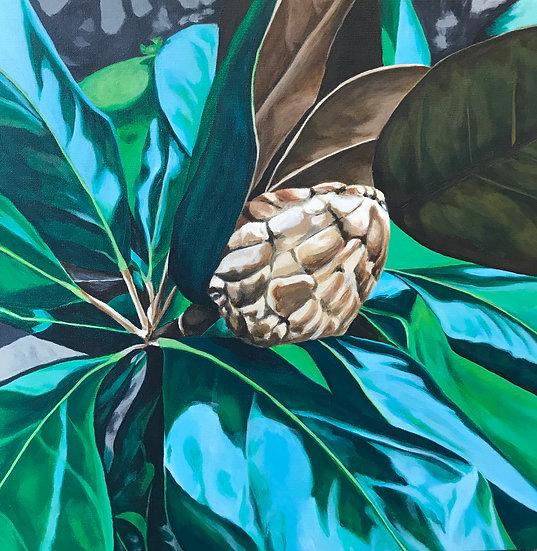 magnolia cone painting