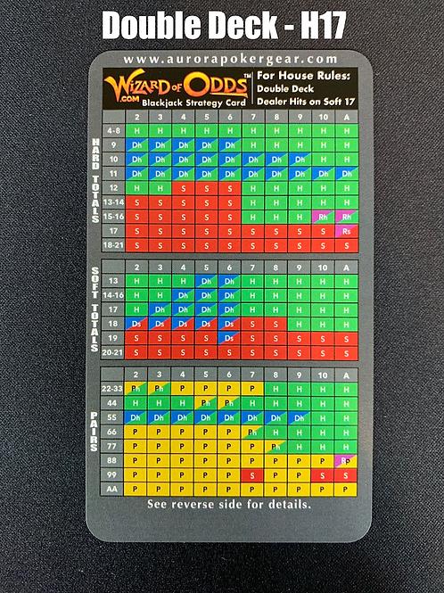 WoO Blackjack Strategy Card - Double Deck, H17