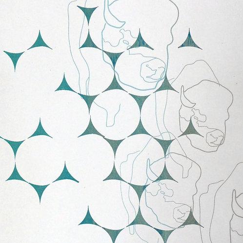 """Sérigraphie papier - Oeuvre unique 12"""" x 16"""""""