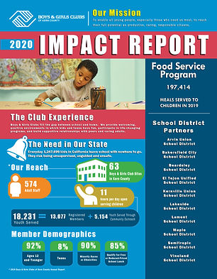 2020 Impact Report front side with bleed