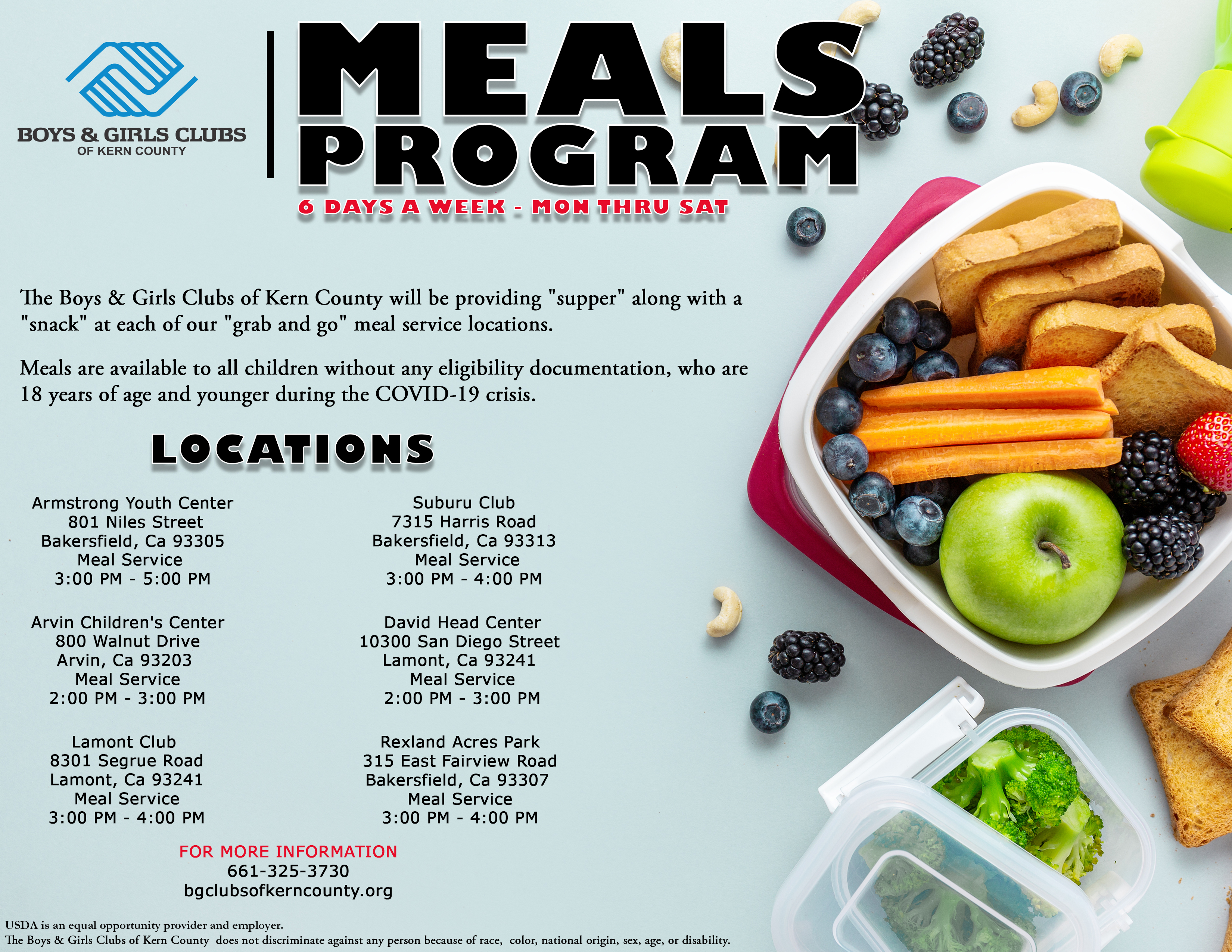 MEALS SERVICE - August 2020