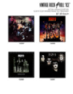 vintage rock n roll album covers kiss