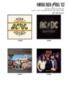acdc vintage album covers
