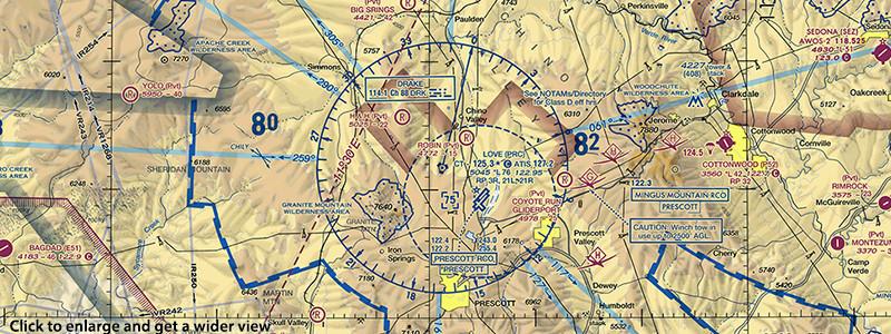 FAA airspace chart Prescott Airport