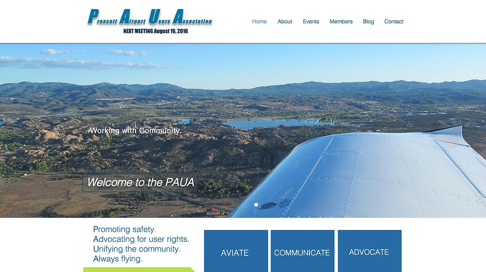Prescott Airport Users Association Website