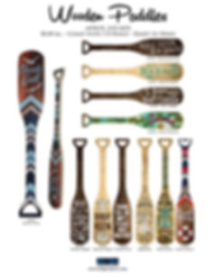 paddles, wooden wall decor and gifts