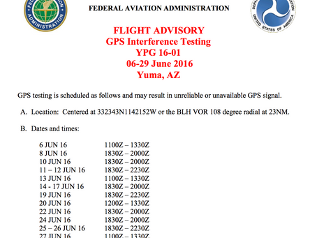 GPS Interference Testing - FAA