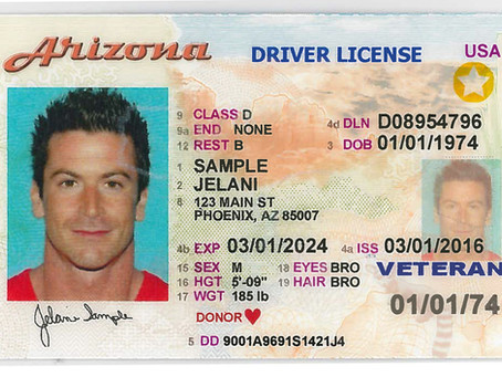 Current Arizona Driver Licenses, IDs Valid for Air Travel Until Oct. 1, 2020