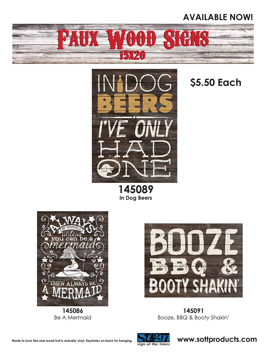 bar and pub signs