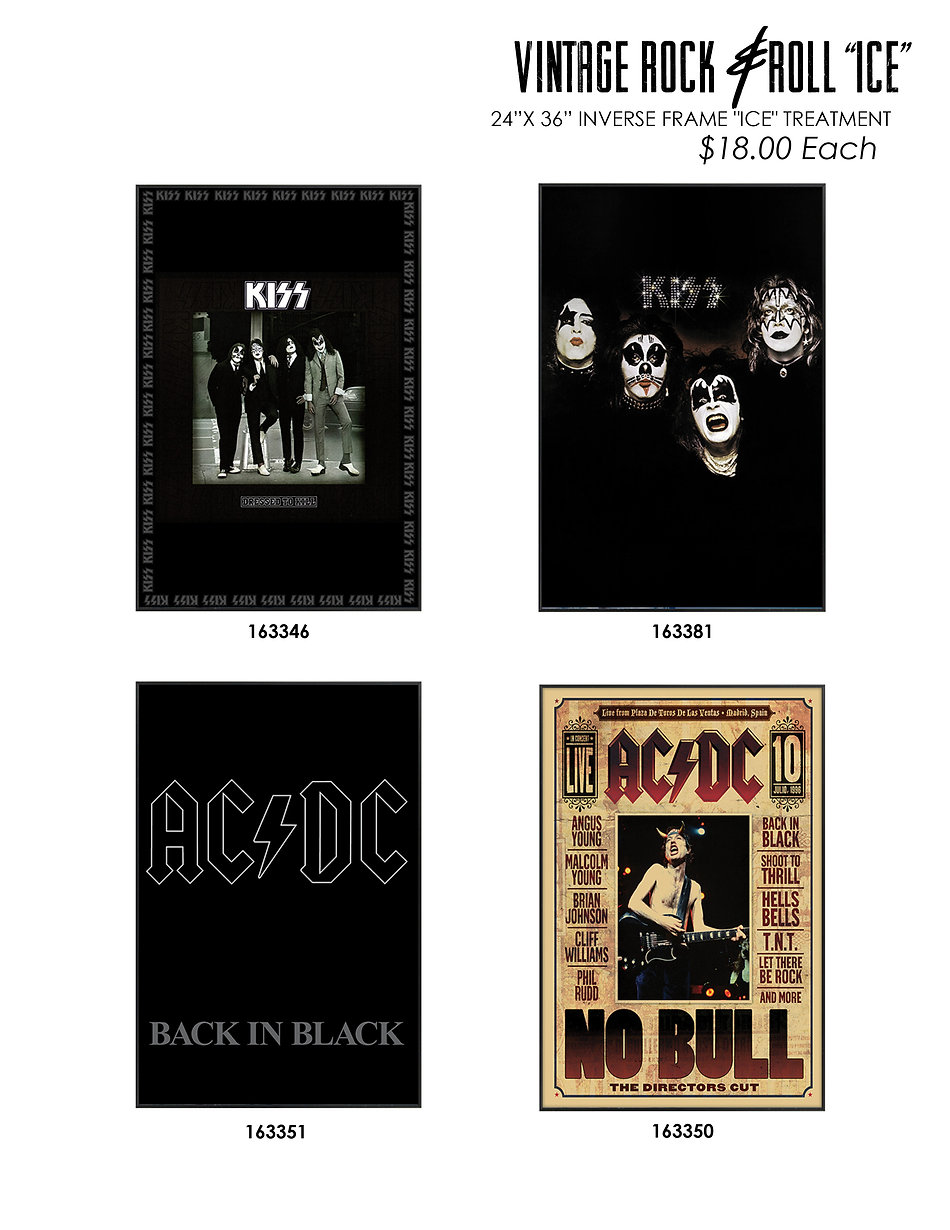 vintage album covers acdc kiss