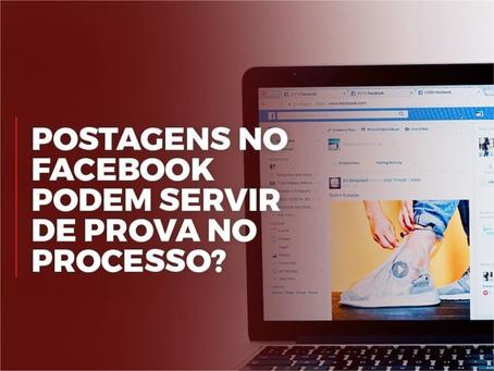 Postagens de Facebook podem servir como prova?