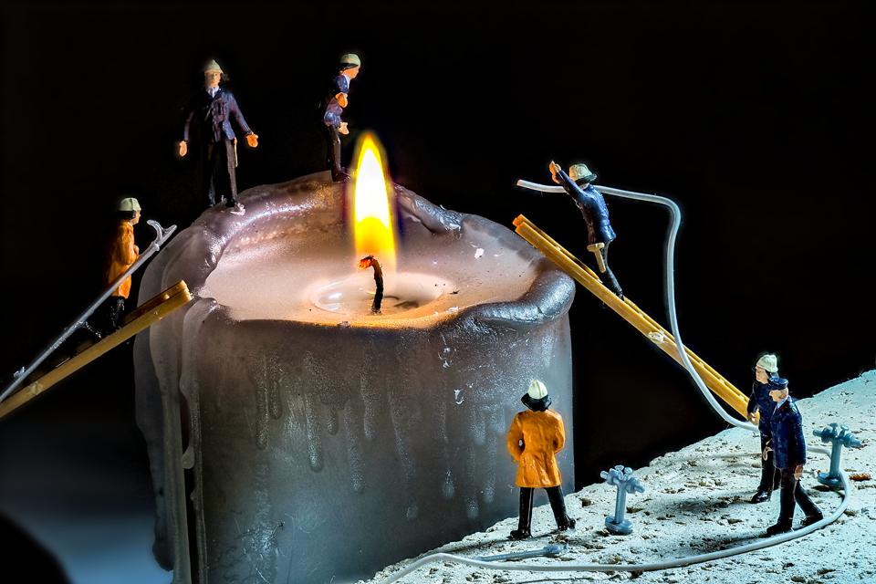 Kerzen-Feuerwehr