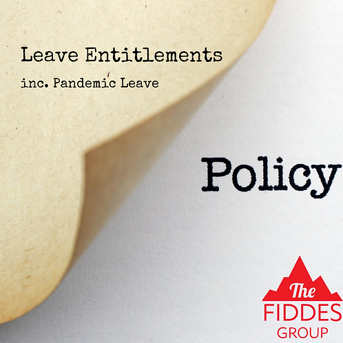 Leave Entitlements Policy Template