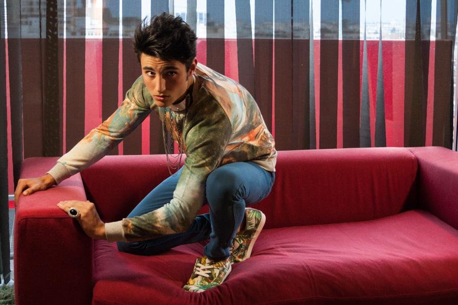 Fotografía moda - making of joven
