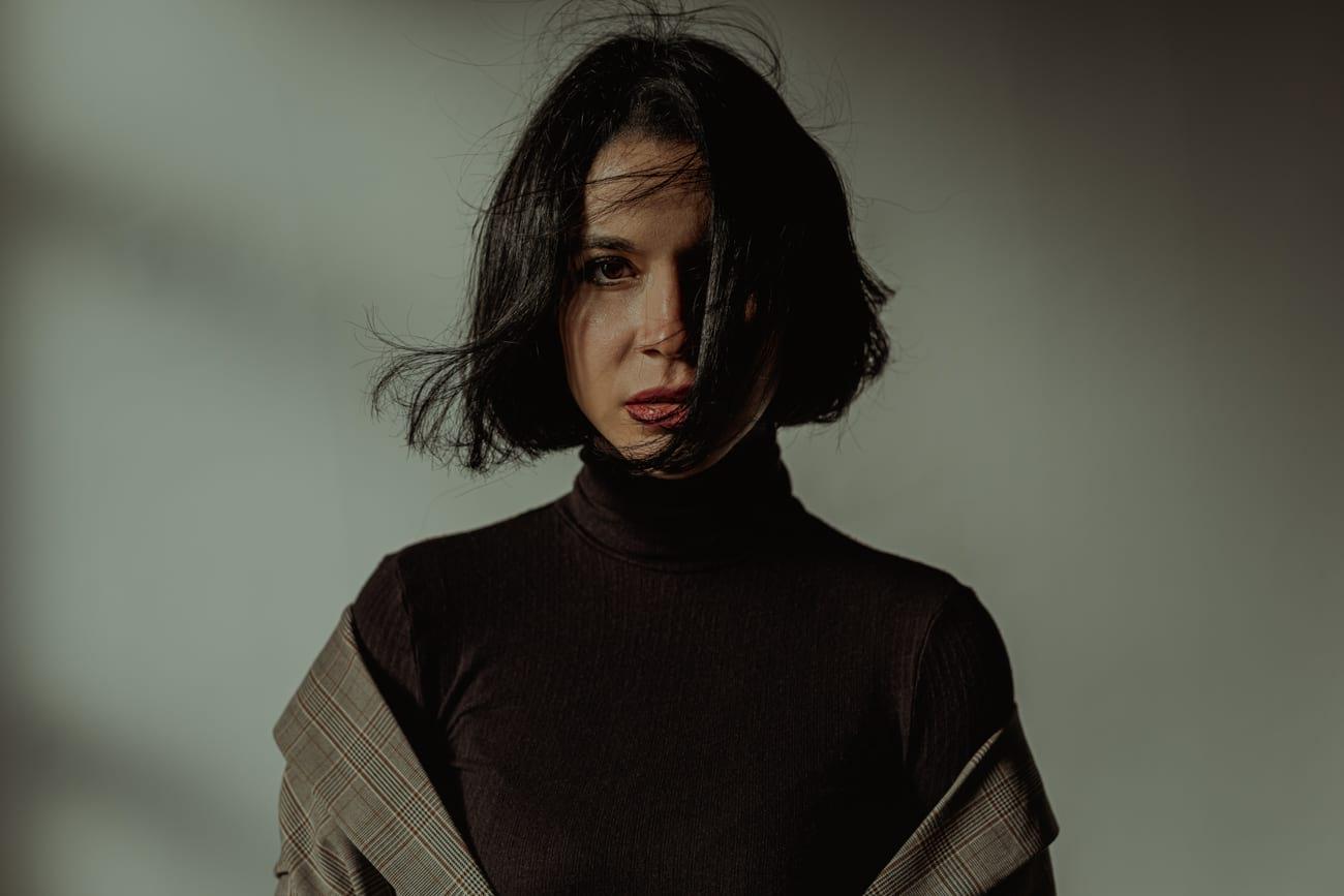 Sesión de retrato book actriz en Madrid