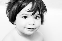 Fotografía infantil baño Madrid