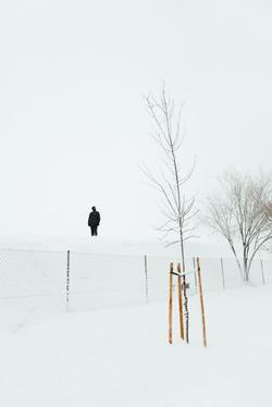 Fotografía paisaje nevado en Madrid
