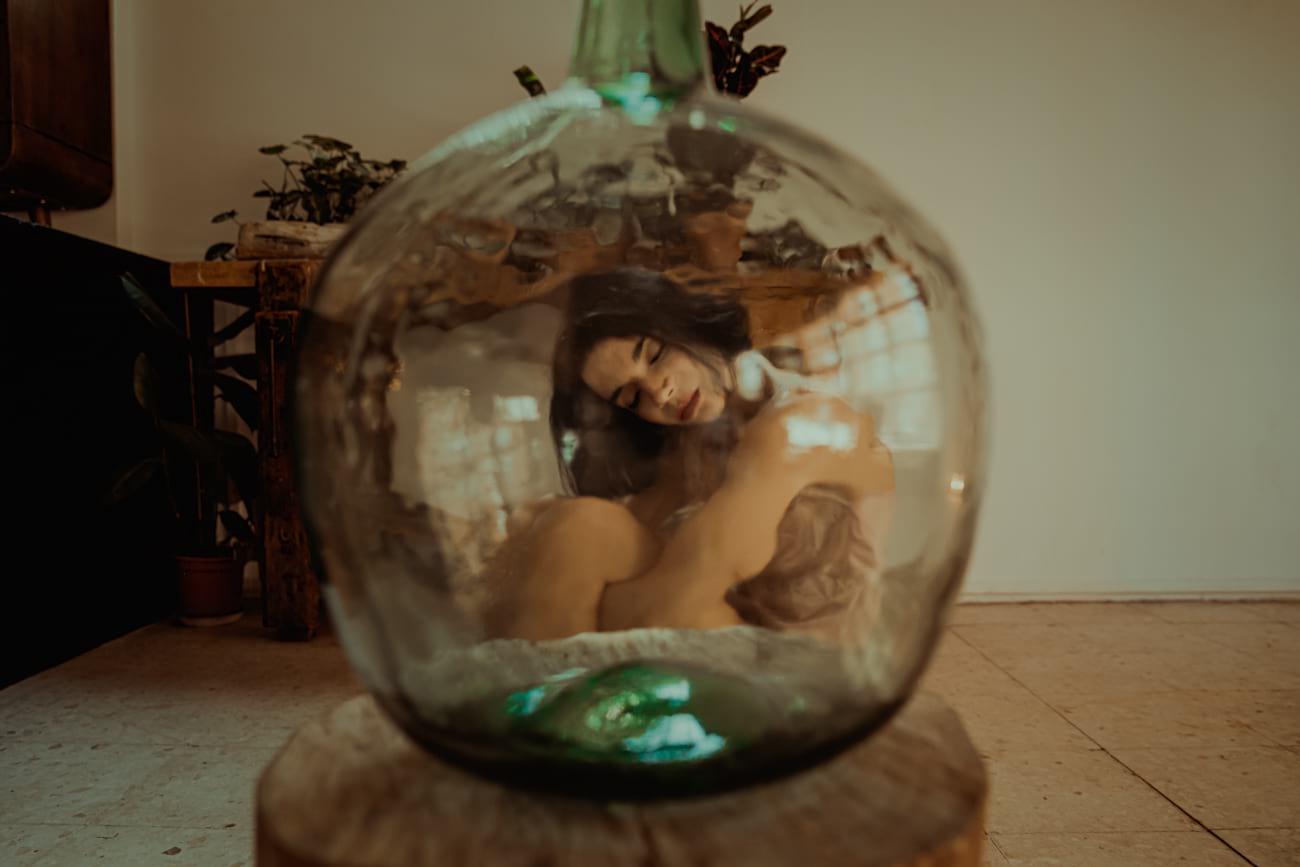 Retrato emocional mujer en Madrid