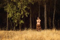 Fotografía embarazo - bosque Madrid
