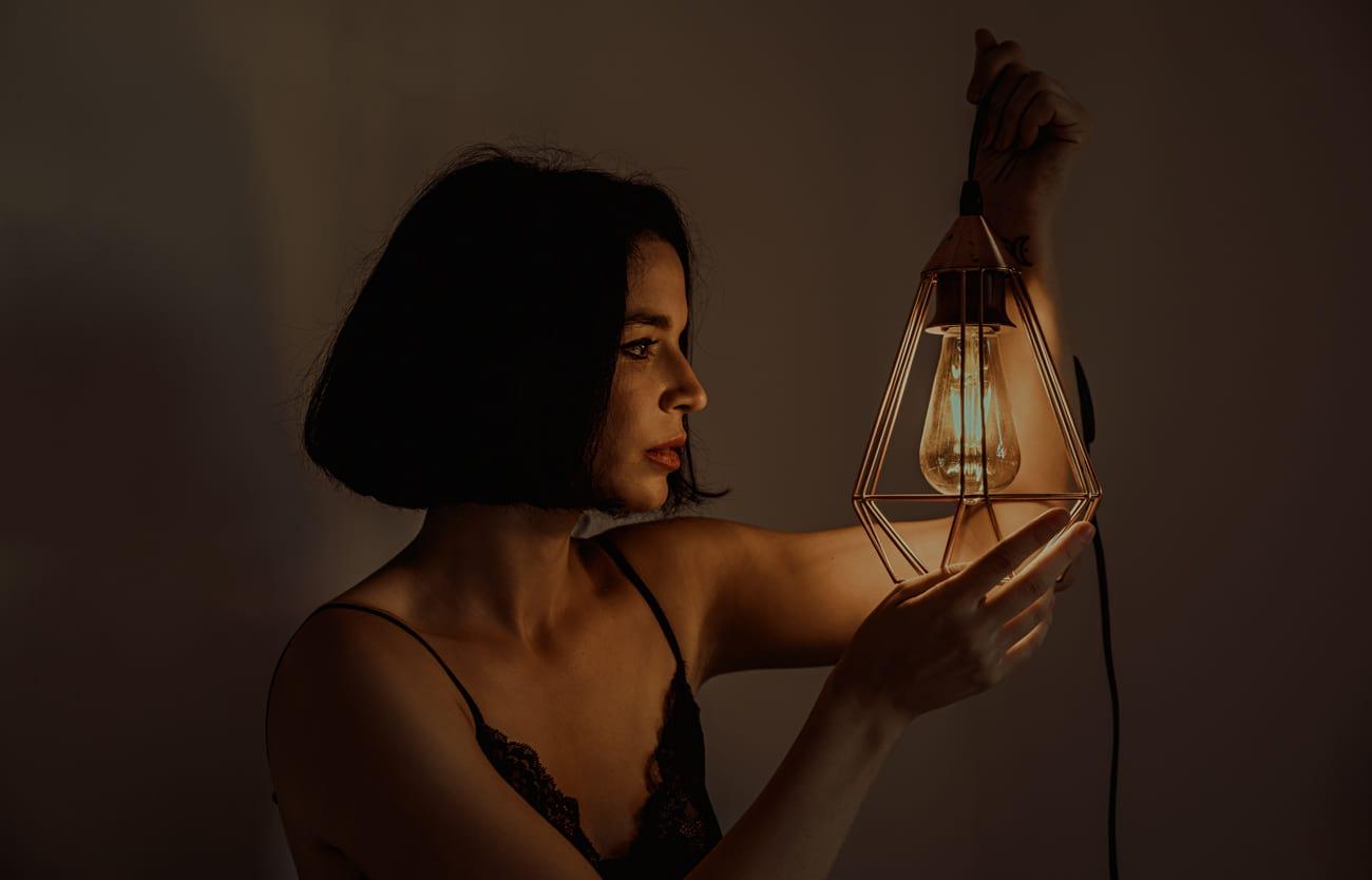 Sesión de retrato artístico mujer en Madrid