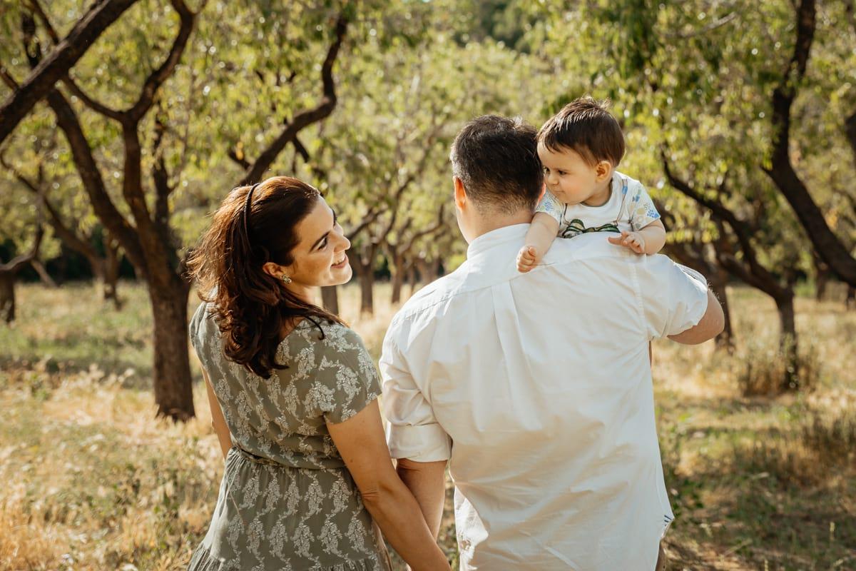 Sesión de fotos bebé familia en Madrid
